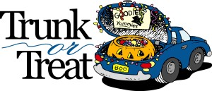TRUNK OR TREAT and Youth Pumpkin Roll this Sunday